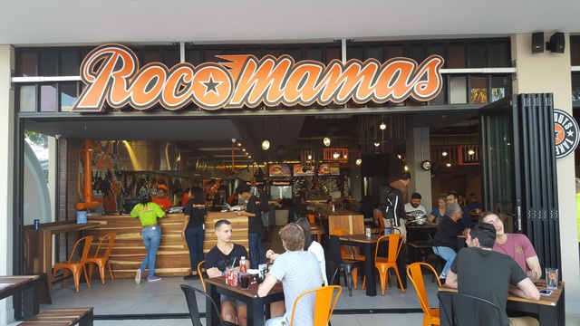 RocoMamas - family friendly. Best burgers, ribs and wings